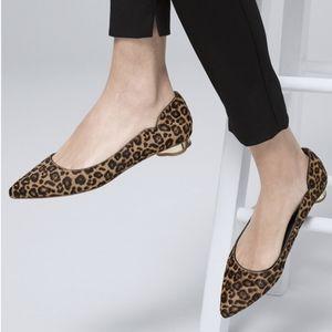 NWOT White House Black Market Bellamy leopard flats